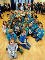 The 1st Bradley Stoke Beavers celebrate the 30th anniversary of Beaver Scouts.