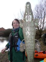 Crocodile found in the Three Brooks lake, Bradley Stoke.