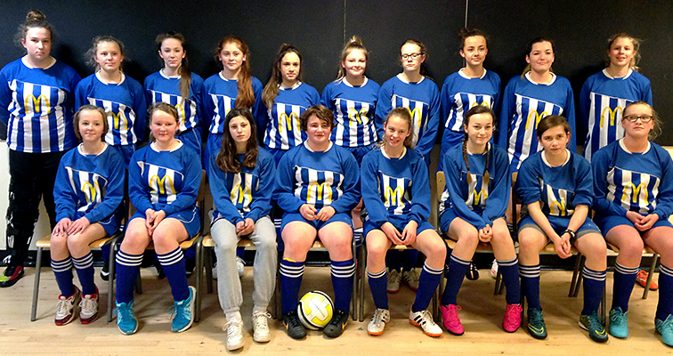 Bradley Stoke Youth FC's U14 Girls team, who have reached the final of the Gloucestershire FA County Cup.