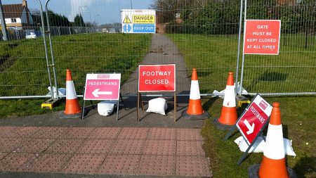Footway closure on the north side of Bradley Stoke Way.
