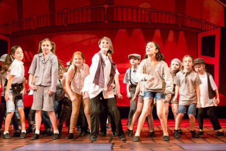 Students from PQA Bradley Stoke perform at Her Majesty's Theatre, London.