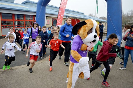 Sport Relief 'marathon' at Baileys Court Primary School, Bradley Stoke.