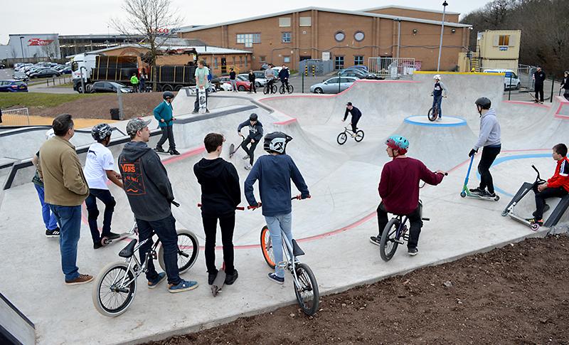 New skate park in Bradley Stoke, Bristol (opened March 2016).