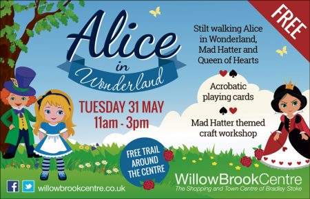 Alice in Wonderland event at the Willow Brook Centre.