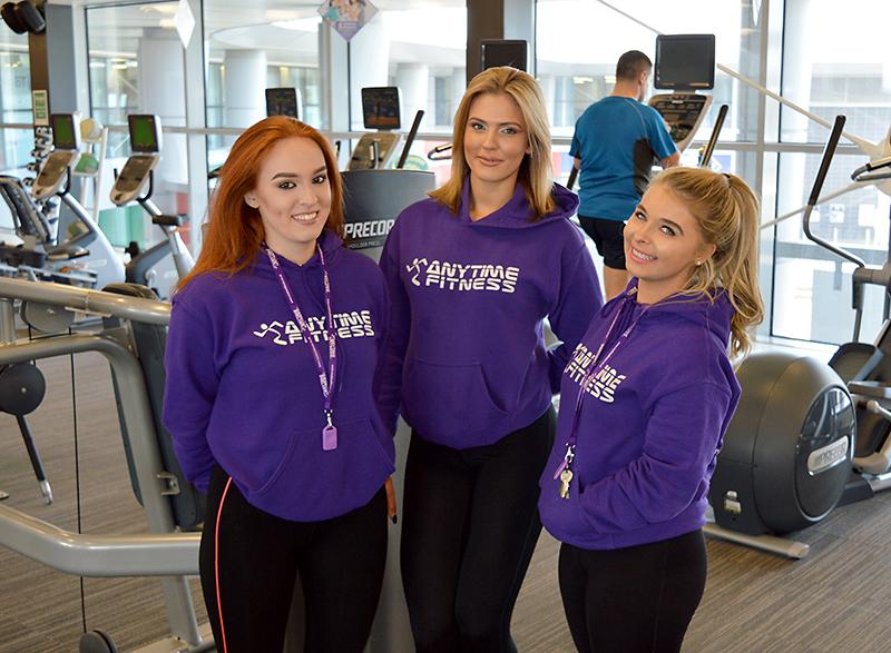 Staff at Anytime Fitness, Bradley Stoke, Bristol.