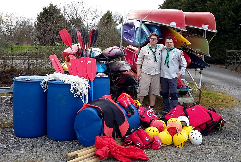 1st Bradley Stoke Scout Group's water activity unit.