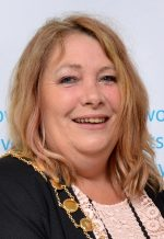 Cllr Elaine Hardwick, elected Mayor of Bradley Stoke in May 2016.