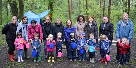 Abacus Pre-School woodland adventure in Savages Wood, Bradley Stoke.