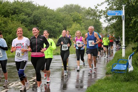 Bradley Stoke 10k Run 2011 - in the Three Brooks Local Nature Reserve.