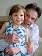 Melvyn Joyce and daughter Ella.