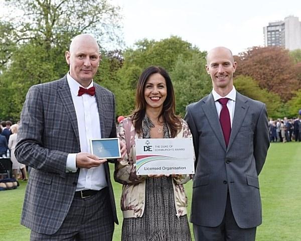 Olympus Academy Trust leaders at a Duke of Edinburgh's Award presentation.