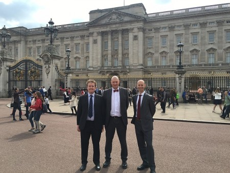 Olympus Academy Trust leaders at Buckingham Palace for a Duke of Edinburgh's Award presentation.