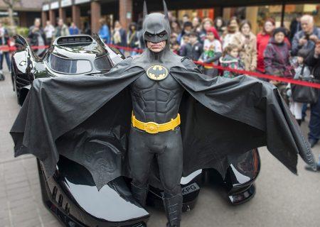 Batman and his Batmobile.