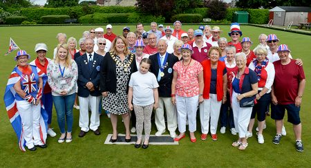 Charity Day at Bradley Stoke Bowls Club, on the weekend of The Queen's 90th birthday celebrations.