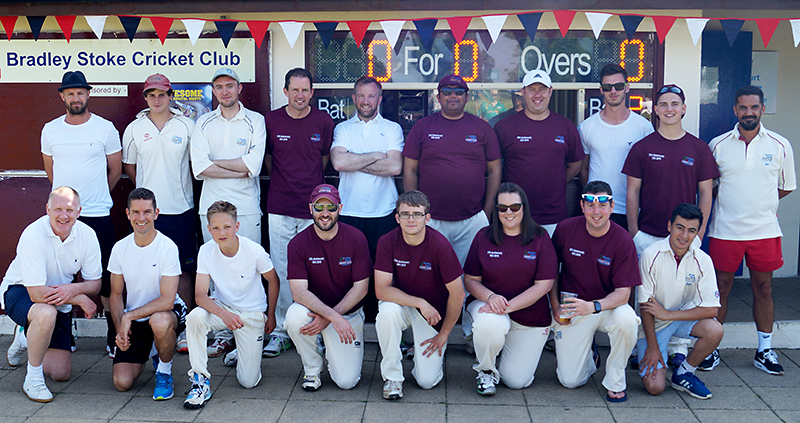 Players all set to take part in a Twenty20 match between a Bradley Stoke Cricket Club XI and a celebrity XI, as part of the club's 25th anniversary celebrations.