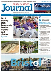 July 2016 edition of the Bradley Stoke Journal magazine.