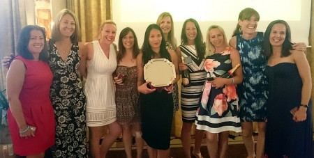 Bradley Stoke Netball Club - winners of the Plate competition at a tournament in La Manga, Spain.