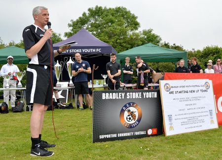 Martin Lee of Bradley Stoke Youth FC at the 2016 Festival of Football.