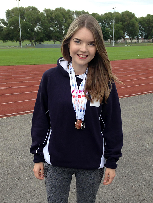 Emma Barnes, medal winner at the 2016 British Transplant Games.