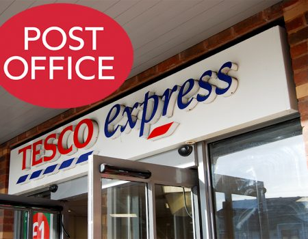 Post office at Tesco Express, Bradley Pavilions, Pear Tree Road, Bradley Stoke.