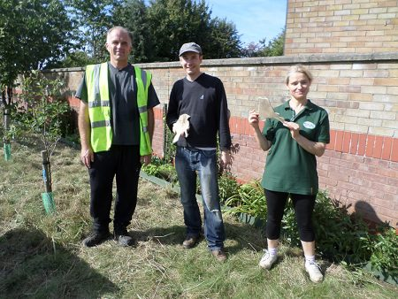 Bradley Stoke in Bloom volunteers work on land in Palmers Leaze.
