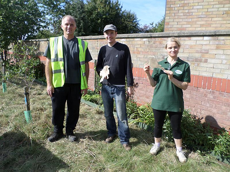 Bradley Stoke in Bloom volunteers work on land in Palmers Leaze.
