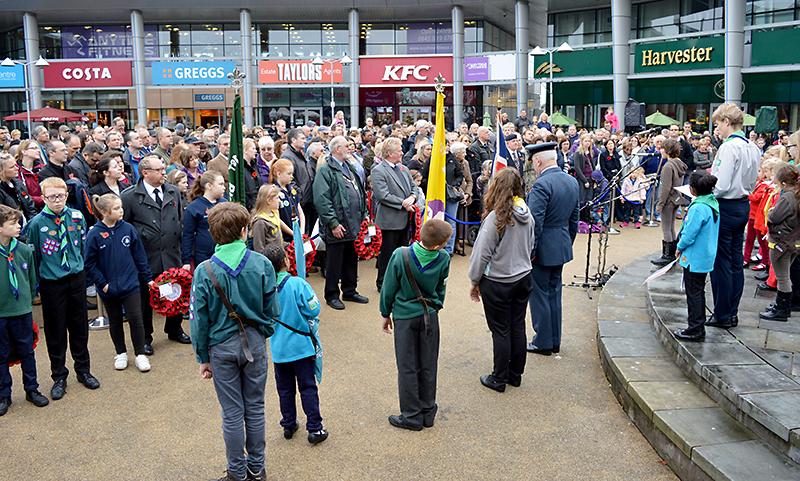 Bradley Stoke Remembrance Day Parade 2015.
