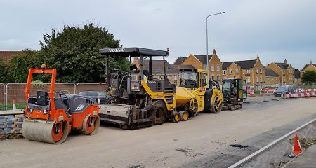 Road surfacing plant on Bradley Stoke Way.