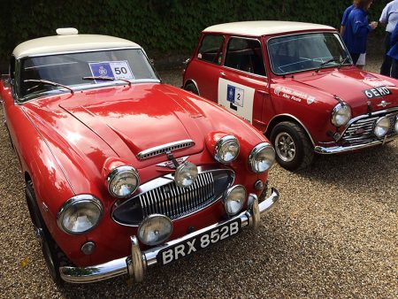 RAC Rally of the Tests: Austin-Healey 3000 and replica 6 EMO Mini.