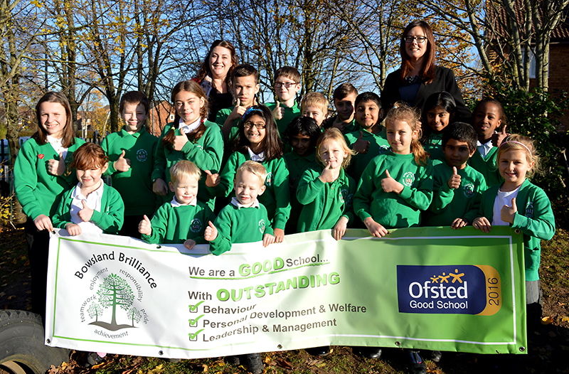 Teachers and pupils at Bowsland Green Primary School, Bradley Stoke, recently rated 'good' by Ofsted.