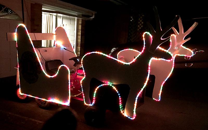 Bradley Stoke Lions' Santa sleigh.
