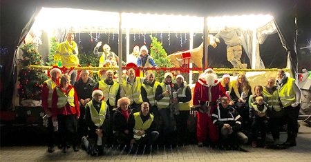 Southmead Hospital Charity's Christmas float.