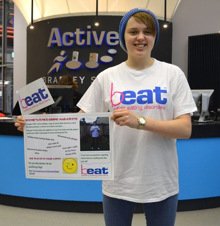 Anorexia survivor Sophie Mitchell, who is embarking on a year of fundraising for the Beat charity.