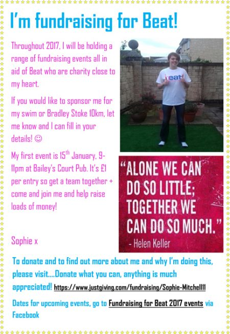 Sophie Mitchell charity fundraising events.