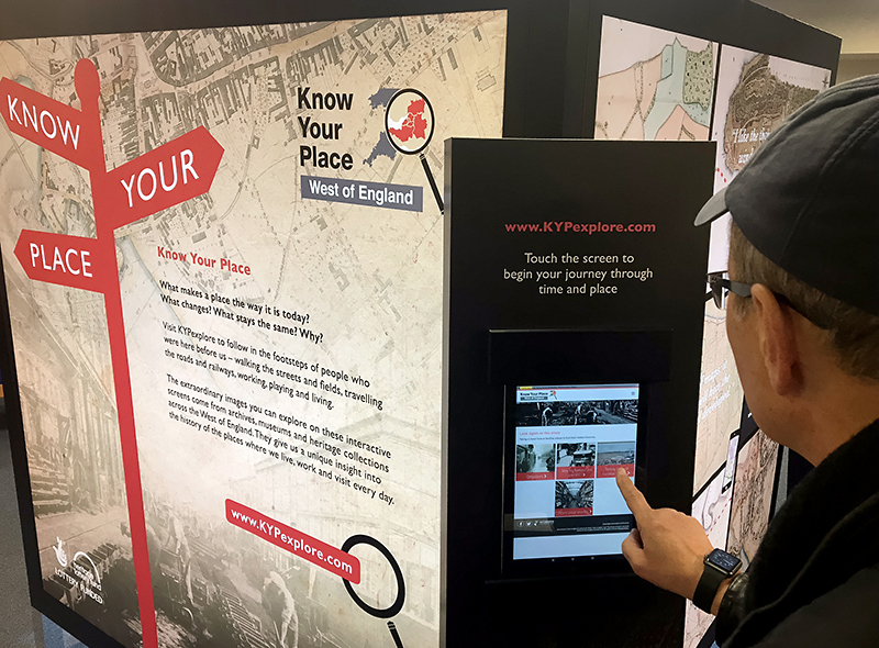 Know Your Place touring exhibition at Bradley Stoke Library.