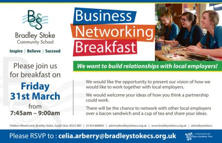 Business Networking Breakfast at Bradley Stoke Community School.