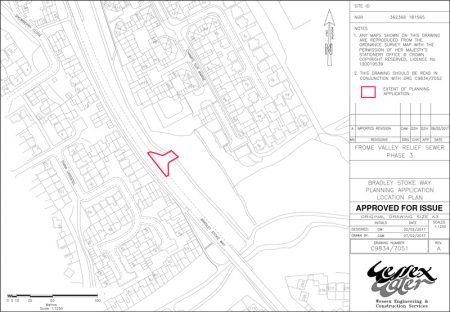 Plan showing proposed temporary access off Bradley Stoke Way.