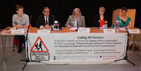 Education funding debate at Abbeywood Community School on 16th May 2017.