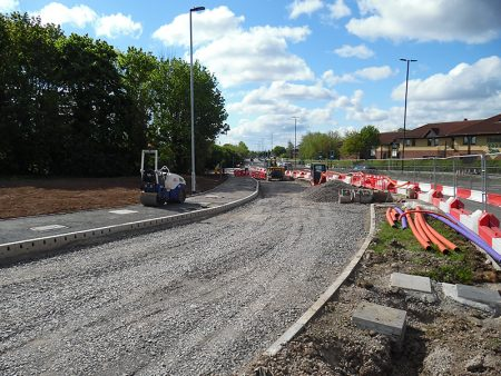 Photo of new bus lane at Aztec West.