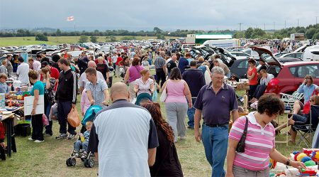 Photo of crowds at Trench Lane Car Boot Sale.