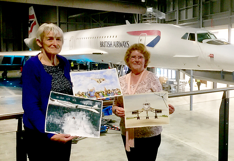 Photo of Sue Jones (left) and Susan Hartry.
