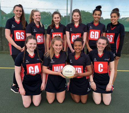 Photo of Bradley Stoke Junior Netball Club's under-14s A team.