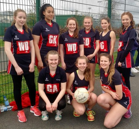 Photo of Bradley Stoke Junior Netball Club's under-16s team.