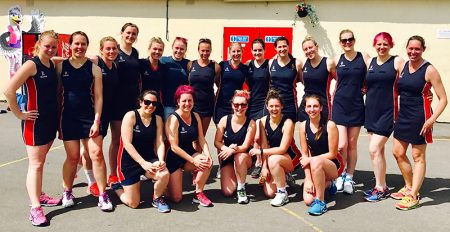 Photo of Bradley Stoke Netball Club on tour at Brean in May 2017.