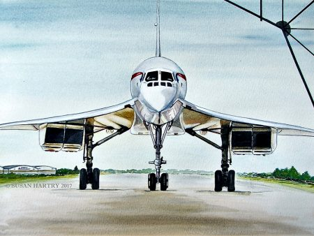 Concorde 2017 Home from Home, by Susan Hartry (watercolour).
