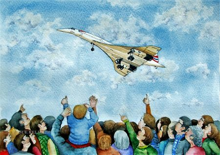 We Love Concorde, by Sue Kelly (watercolour).