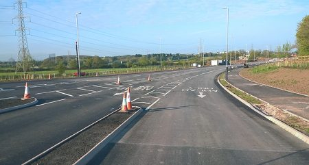 Photo of the under-construction Stoke Gifford Transport Link.