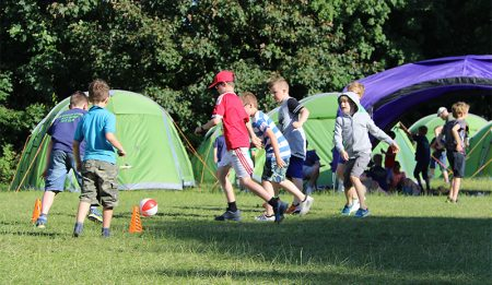 1st Bradley Stoke Scouts at Group camp.