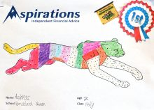 Winning 'Colour a Cheetah' entry by Ashmas Rizvi.