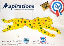 Winning 'Colour a Cheetah' entry by Maja Lamberska.